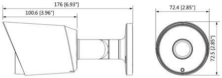 KAMERA AHD, HD-CVI, HD-TVI, PAL DH-HAC-HFW1200TP-028 0B - 1080p 2.8mm DAHUA