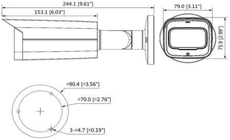 KAMERA AHD, HD-CVI, HD-TVI, PAL DH-HAC-HFW2241T-I8-A -0360B - 1080p 3.6mm DAHUA
