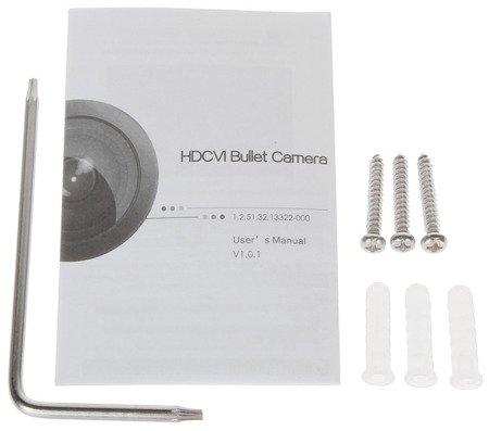 KAMERA AHD, HD-CVI, HD-TVI, PAL DH-HAC-HFW2501TP-I8- A-0360B - 5Mpx 3.6mm DAHUA