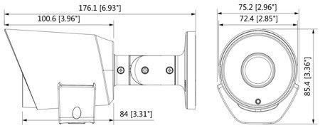KAMERA AHD, HD-CVI, HD-TVI, PAL DH-HAC-LC1220TP-TH-0 280B - 1080p 2.8mm DAHUA