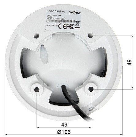 KAMERA HD-CVI, PAL DH-HAC-HDW1400EMP-PO C-0280B - 3.7Mpx 2.8mm DAHUA