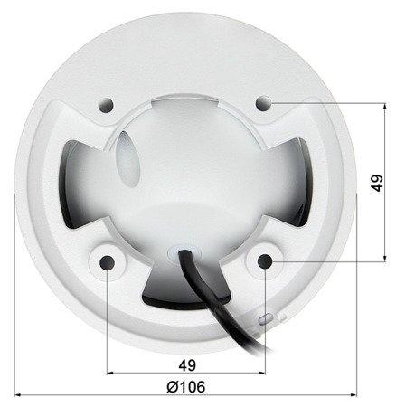 KAMERA WANDALOODPORNA HD-CVI, PAL DH-HAC-HDW1400EMP-A- 0280B - 3.7Mpx 2.8mm DAHUA
