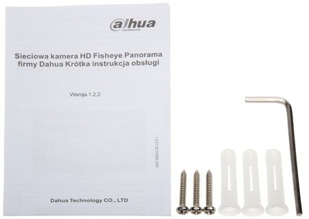 KAMERA WANDALOODPORNA IP DH-IPC-EB5400P-M12 - 4.0Mpx 1.18mm - Fish Eye DAHUA