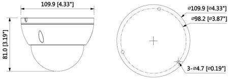 KAMERA WANDALOODPORNA IP DH-IPC-HDBW4231EP-A S -0360B - 1080p 3.6mm DAHUA