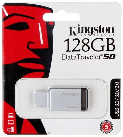 PENDRIVE USB 3.0 FD-128/DT50-KING 128GB USB 3.1/3.0 KINGSTON